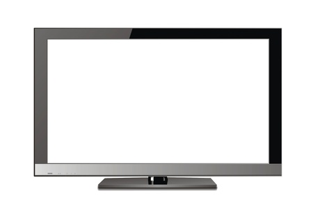screen: Flat screen tv lcd, plasma realistic illustration   Stock Photo
