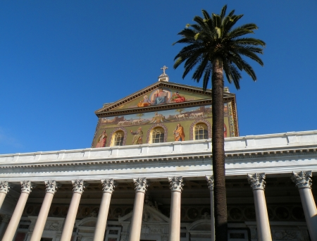 pagan cross:                                basilica of st  paul in rome