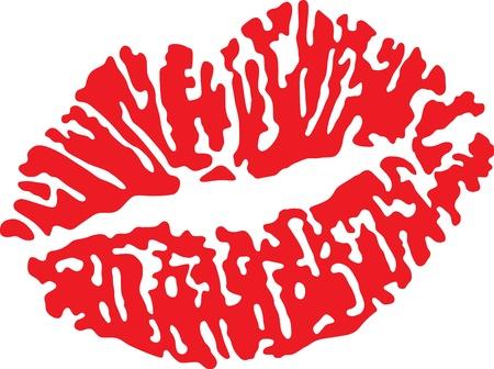 belles lèvres rouges isolé sur blanc Illustration