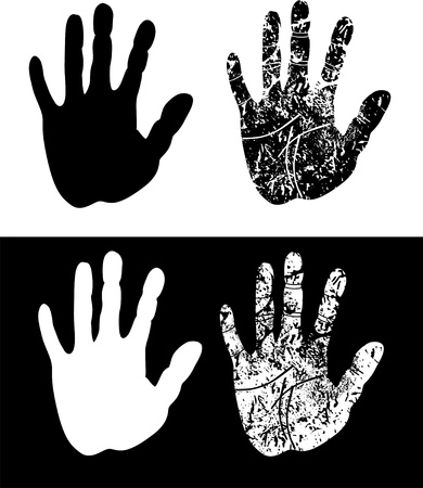 print of a hand Vector