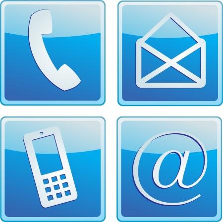Contactez-nous icône Banque d'images - 14212481