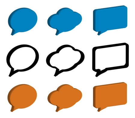 speech bubbles 3d photo