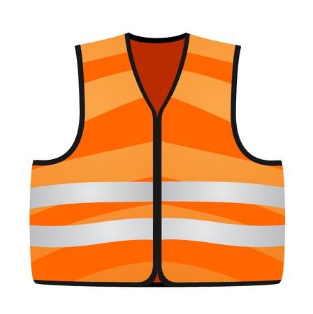 orange vest  イラスト・ベクター素材
