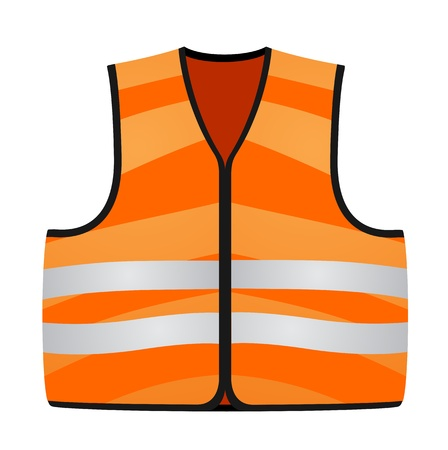 white coat: orange vest Illustration