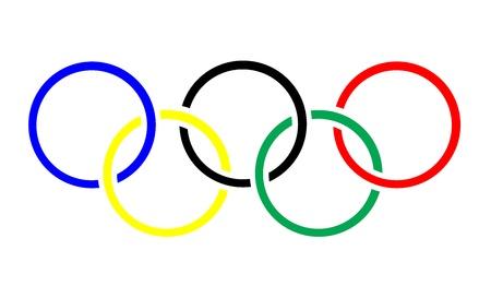 Anneaux olympiques symbole ou une icône Banque d'images - 14639069