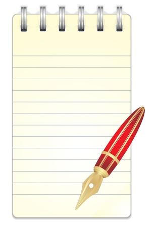 ring binder: Blank Paper Notebook  Illustration