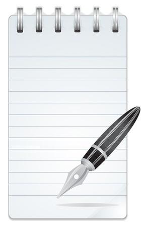 open notebook: Blank Paper Notebook  Illustration