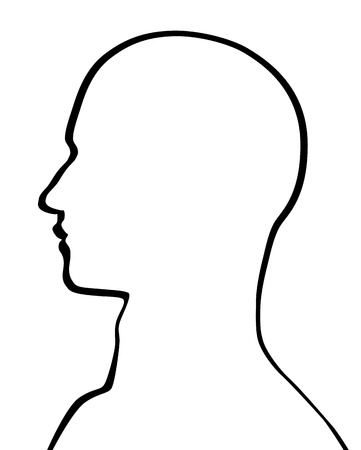 man face profile: Human Head Illustration