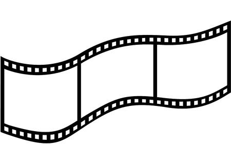 cinema film: Film on a white