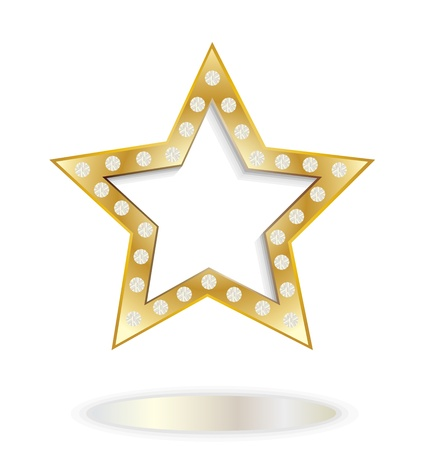 show bussiness: gold star Illustration