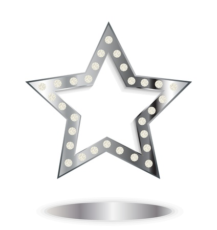 show bussiness: silver star Illustration