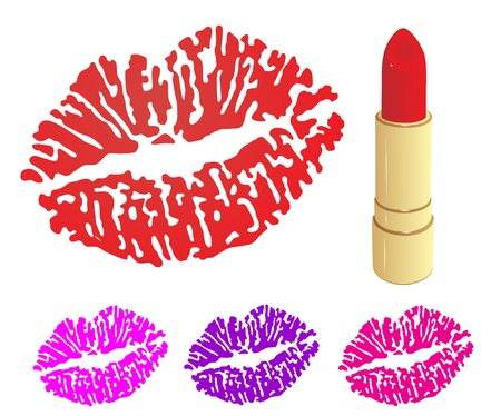 Beautiful lipstick Stock Vector - 18988586