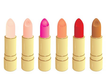 Beautiful lipsticks, isolated on white Stock Vector - 18988588