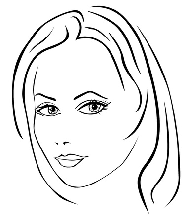 Beautiful woman face Stock Vector - 18988584