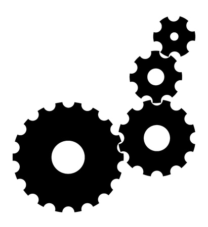 black cogs gears on white background EPS10 Vector