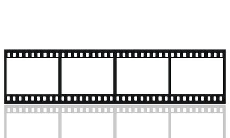 35 mm: 35mm format movie filmstrip,standard film picture frames, large format