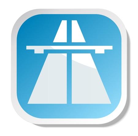 highway sign vector eps 10 Stock Vector - 20387119