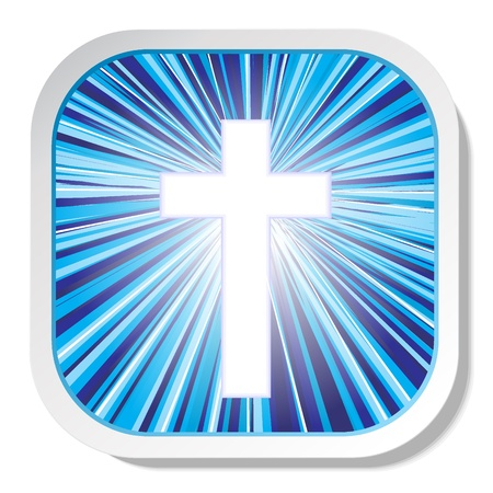 Christian cross icon vector eps 10 Illustration