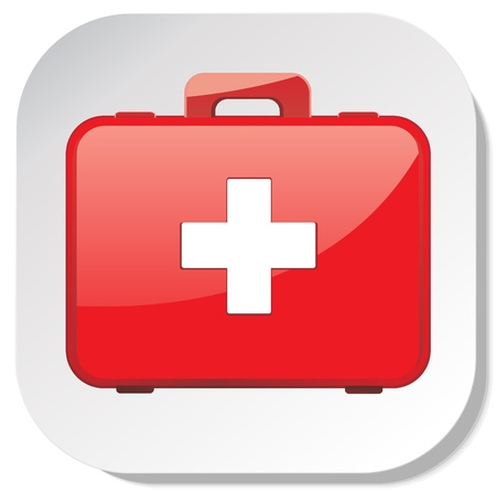 firstaid: first aid box sticker icon