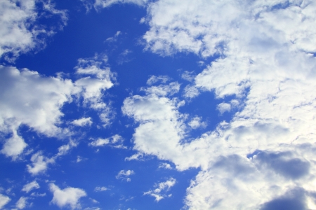 puffy: Blue Sky and puffy clouds Stock Photo