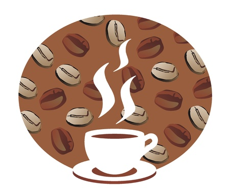 free plate: Coffee sign, illustration