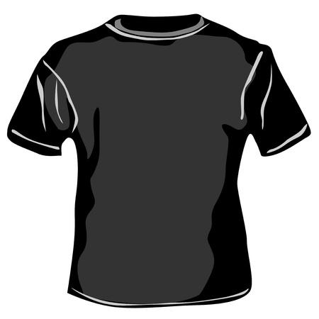 tees graphic tees t shirt printing: Black TShirt  on white background