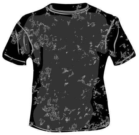 t shirt template: Black TShirt  on white background