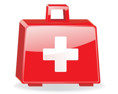 First aid kit isolated   Vector