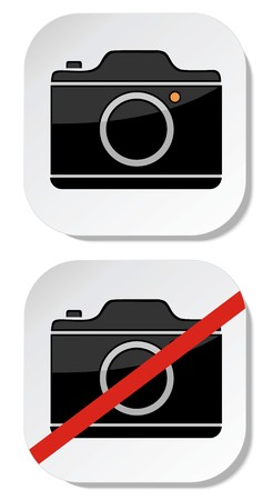No photo camera sticker sign Stock Vector - 22388555