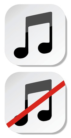 shut up: No music sign eps 10 Illustration