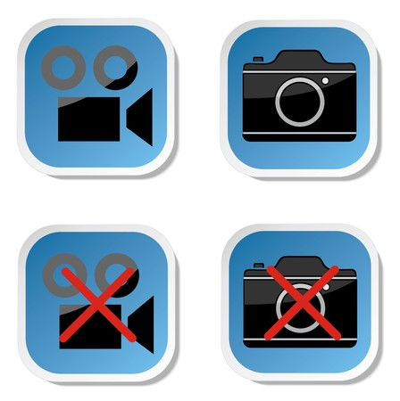 no photo: No photo camera sticker sign