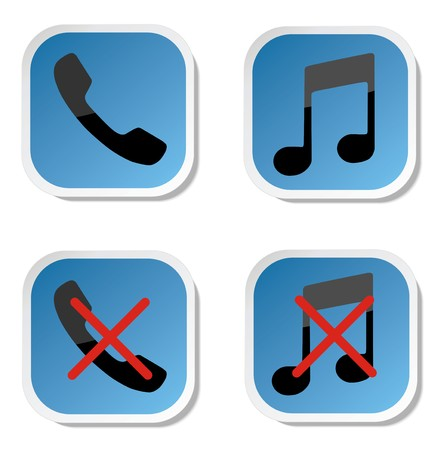 sign not to talk by phone: Red forbidden sign with phone as   no cold calls allowed    Illustration