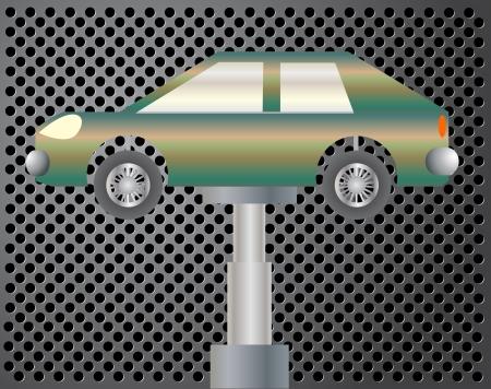 repair shop: Garaje de reparaci�n de fondo ilustraci�n vectorial eps 10