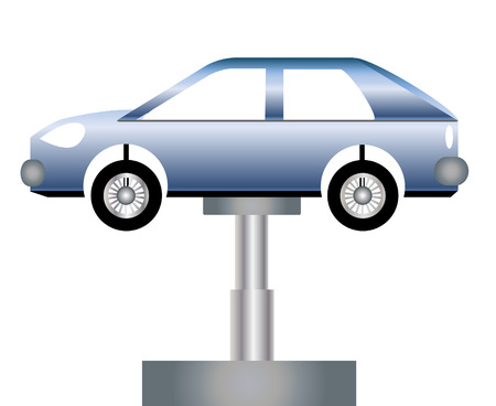 repair shop: Talleres de coches ilustraci�n vectorial Vectores