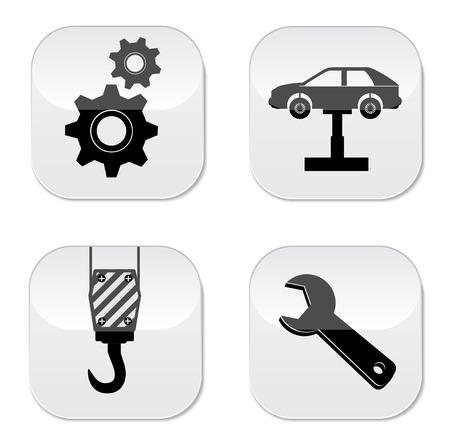 computer repair technician: Car service repair icon Illustration