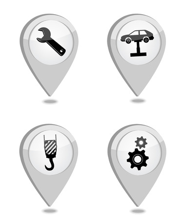 service center: Car service repair icon Illustration