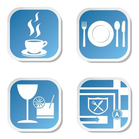 Restaurant Icons Vetores