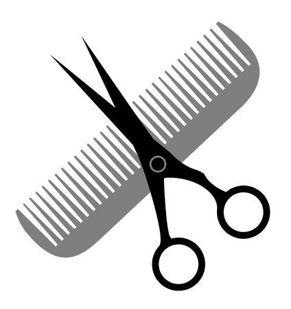 haircutting scissors: Hair Salon design