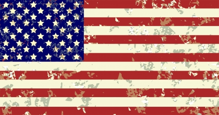 tattered: Grunge USA Flag  Illustration