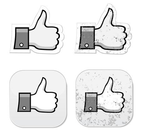 fanpage: Like it thumb up grunge button