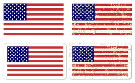 Grunge USA Flag vector illustration  Vector
