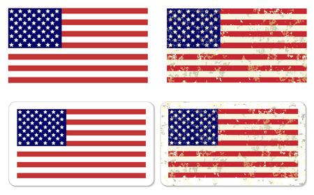 antiqued: Grunge USA Flag vector illustration  Illustration
