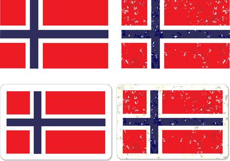 Grunge Norway flag vector eps 10 Stock Vector - 22725582
