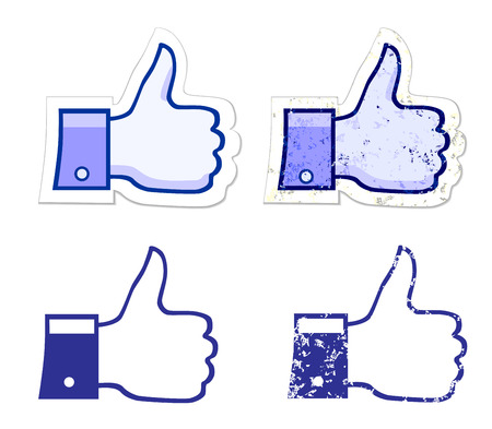 like it grunge button Vector