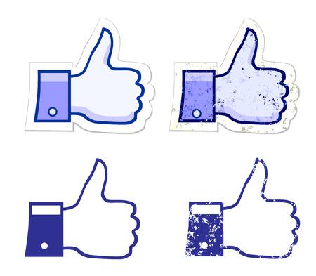 fanpage: like it grunge button