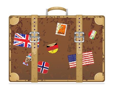 suitcase: Vintage grunge travel suitcase Vector illustration eps 10