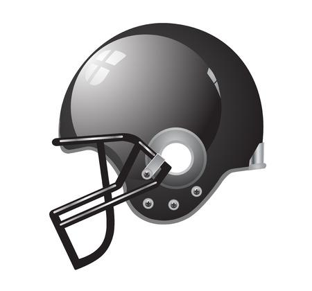 Football casque noir argent vecteur eps 10 Banque d'images - 23285893