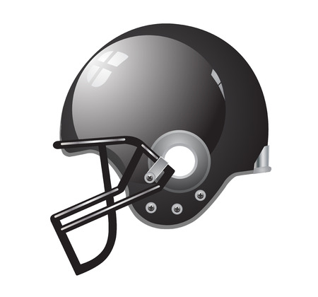 football helmet: Football helmet black silver vector eps 10
