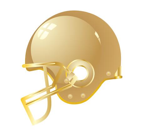 Football helmet gold vector eps 10 Vector