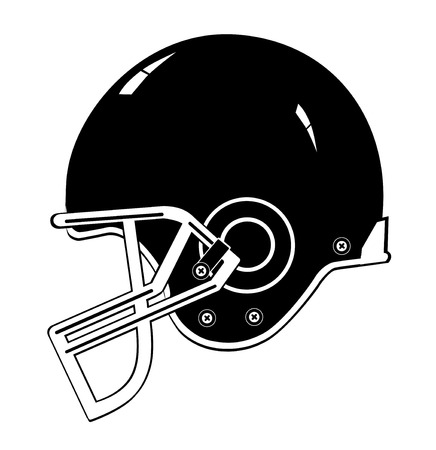 Football casque noir vecteur eps 10 Illustration